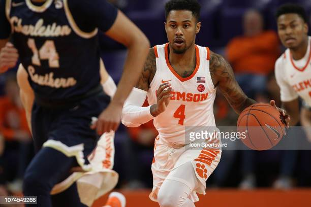 Shelton Mitchell guard of Clemson during a college basketball game between the Charleston Southern Buccaneers and the Clemson Tigers on December 18...