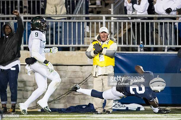 J Shelton of the Michigan State Spartans makes a touchdown reception during the third quarter against the Michigan State Spartans on November 26 2016...