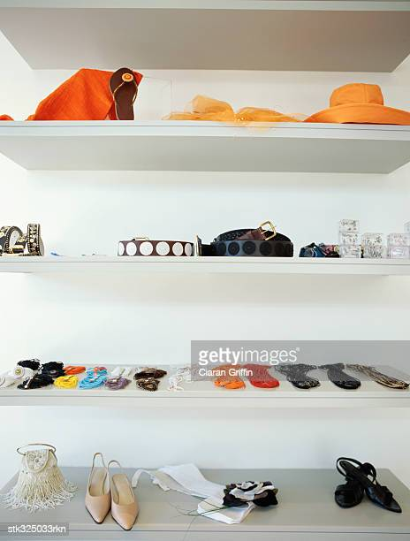 shelves in a store