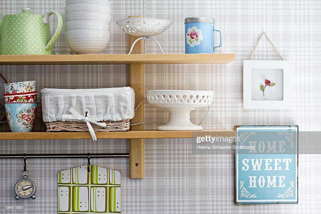 Shelves in kitchen : Stock Photo