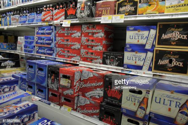 Shelves of beer for sale at Publix Grocery Store