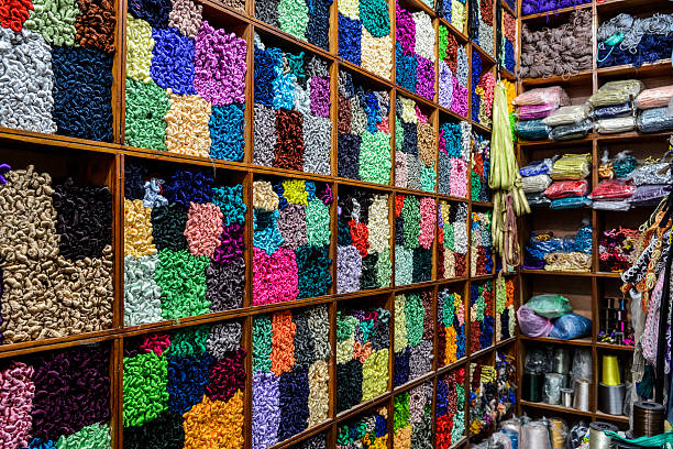 Shelves Of Colorful Yarn Wall Art