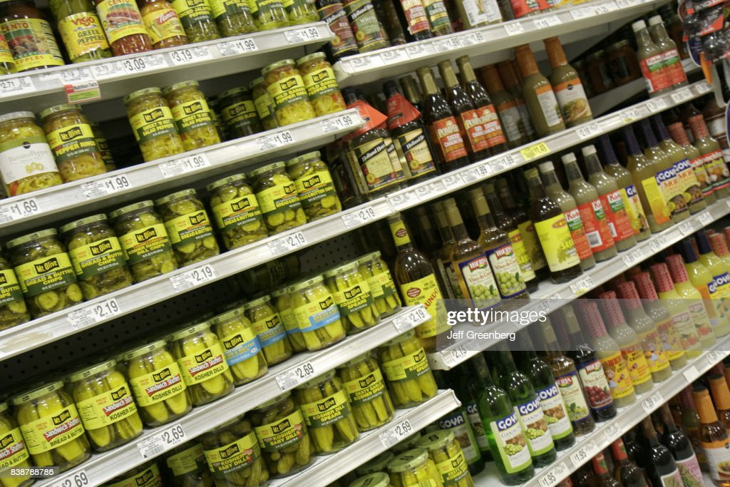 Shelves of food for sale at Publix Grocery Store  News Photo