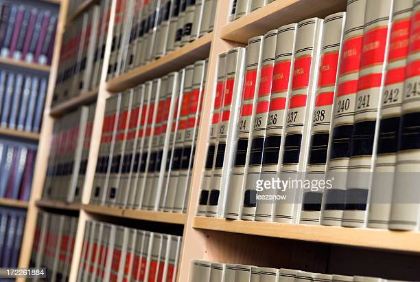 Shelves of Legal Books in Law Library