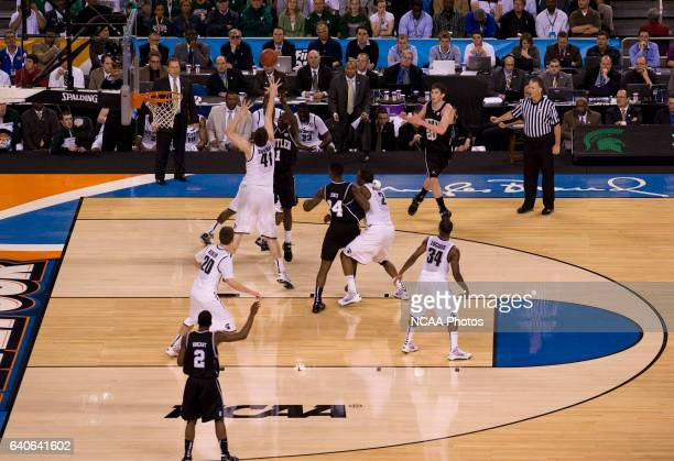 Shelvin Mack of Butler puts the ball up during the first half of the semifinal game of the 2010 NCAA Photos via Getty Images Final Four Division I...
