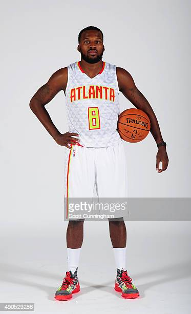 Shelvin Mack of the Atlanta Hawks poses during NBA Photo Day on September 28 2015 at Philips Arena in Atlanta Georgia NOTE TO USER User expressly...