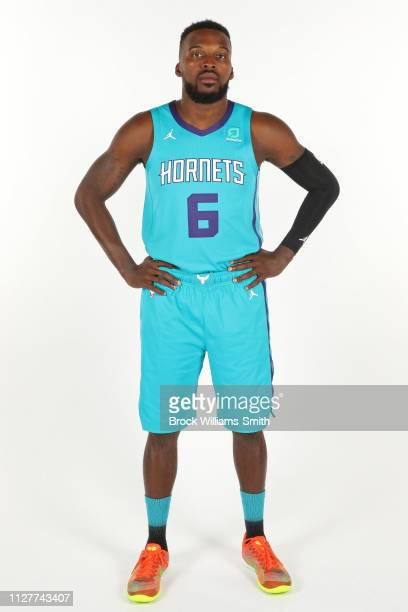 Shelvin Mack of the Charlotte Hornets poses for a portrait on February 25 2019 at Spectrum Center in Charlotte North Carolina NOTE TO USER User...
