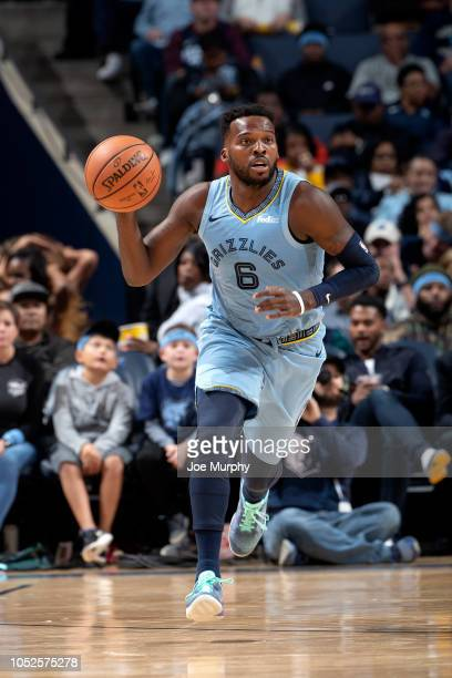 Shelvin Mack of the Memphis Grizzlies handles the ball against the Atlanta Hawks during a game on October 19 2018 at FedExForum in Memphis Tennessee...