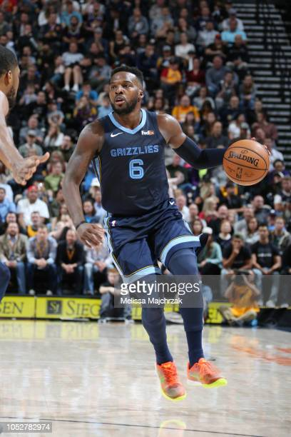 Shelvin Mack of the Memphis Grizzlies handles the ball against the Utah Jazz on October 22 2018 at vivintSmartHome Arena in Salt Lake City Utah NOTE...