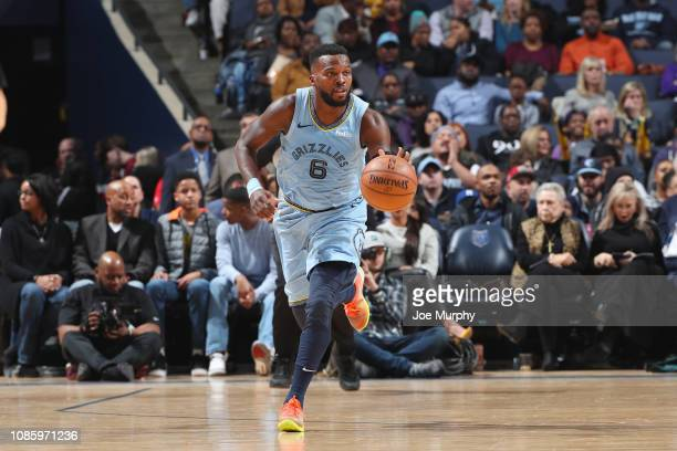 Shelvin Mack of the Memphis Grizzlies handles the ball during the game against the New Orleans Pelicans on January 21 2019 at FedExForum in Memphis...