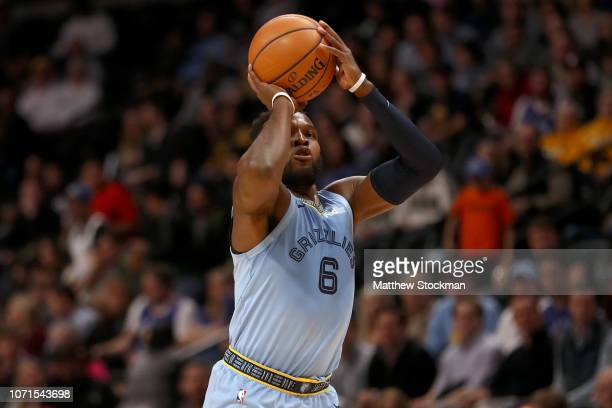 Shelvin Mack of the Memphis Grizzlies puts up a shot against the Denver Nuggets in the second quarter at the Pepsi Center on December 10 2018 in...