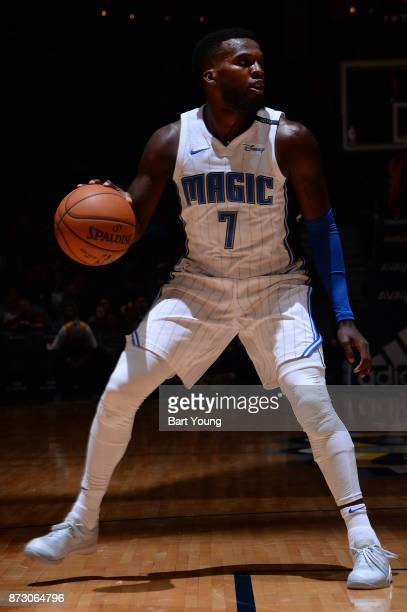 Shelvin Mack of the Orlando Magic handles the ball against the Denver Nuggets on November 11 2017 at the Pepsi Center in Denver Colorado NOTE TO USER...