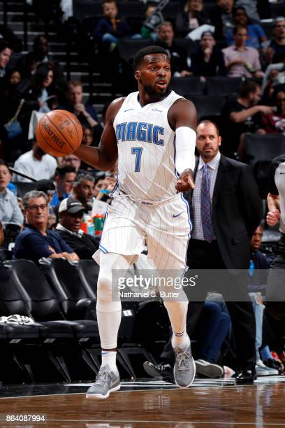 Shelvin Mack of the Orlando Magic handles the ball against the Brooklyn Nets on October 20 2017 at Barclays Center in Brooklyn New York NOTE TO USER...