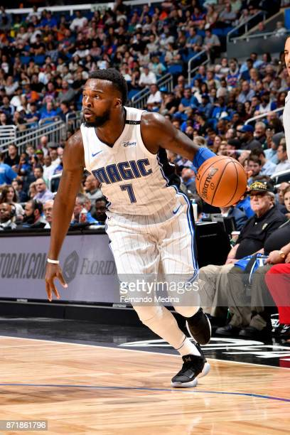 Shelvin Mack of the Orlando Magic handles the ball against the New York Knicks on November 8 2017 at Amway Center in Orlando Florida NOTE TO USER...