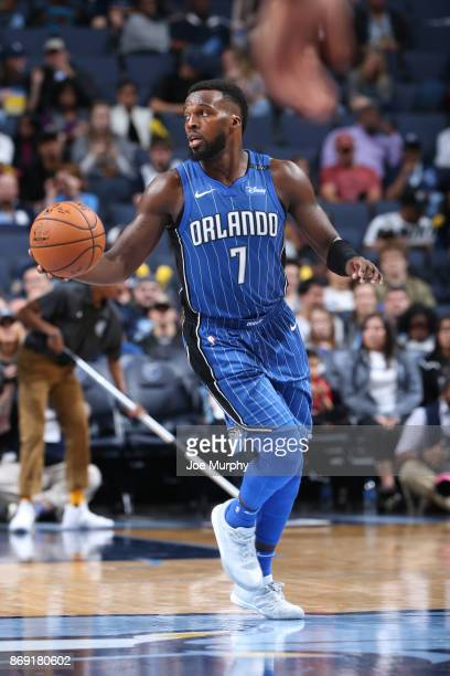 Shelvin Mack of the Orlando Magic handles the ball against the Memphis Grizzlies on November 1 2017 at FedExForum in Memphis Tennessee NOTE TO USER...