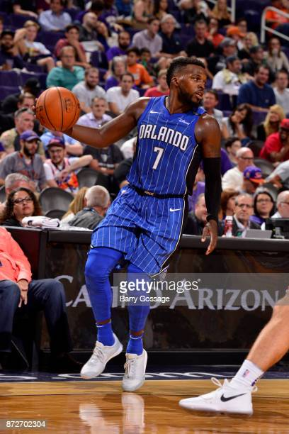 Shelvin Mack of the Orlando Magic handles the ball against the Phoenix Suns on November 10 2017 at Talking Stick Resort Arena in Phoenix Arizona NOTE...