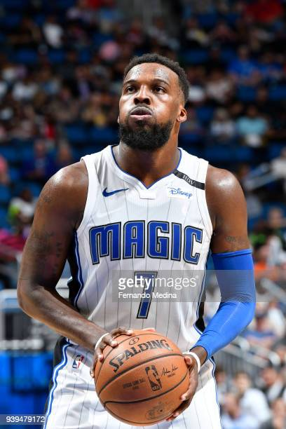 Shelvin Mack of the Orlando Magic shoots the ball against the Brooklyn Nets on March 28 2018 at Amway Center in Orlando Florida NOTE TO USER User...