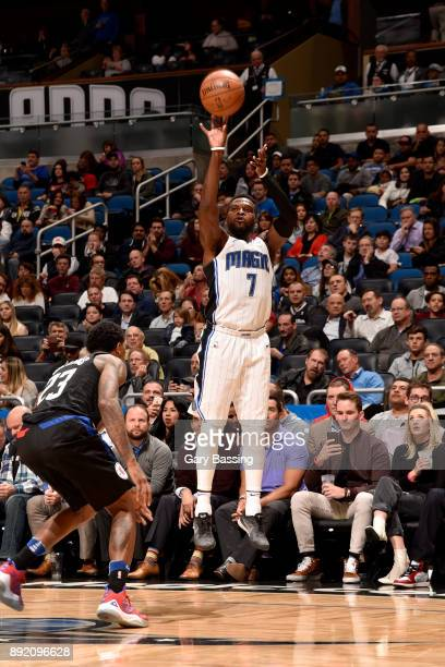 Shelvin Mack of the Orlando Magic shoots the ball against the LA Clippers on December 13 2017 at the Amway Center in Orlando Florida NOTE TO USER...
