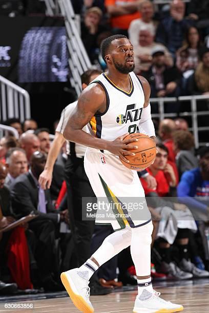 Shelvin Mack of the Utah Jazz handles the ball against the Philadelphia 76ers during the game on December 29 2016 at vivintSmartHome Arena in Salt...