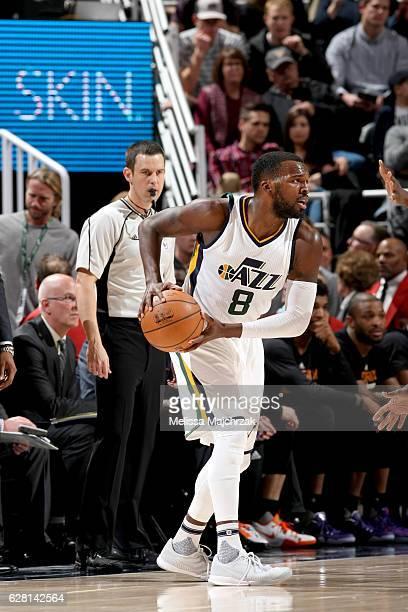 Shelvin Mack of the Utah Jazz of the Utah Jazz handles the ball against the Phoenix Suns on December 6 2016 at vivintSmartHome Arena in Salt Lake...