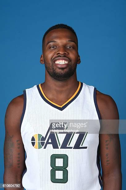 Shelvin Mack of the Utah Jazz poses for a headshot during 20162017 Utah Jazz Media Day at Zions Bank Basketball Center on September 26 2016 in Salt...