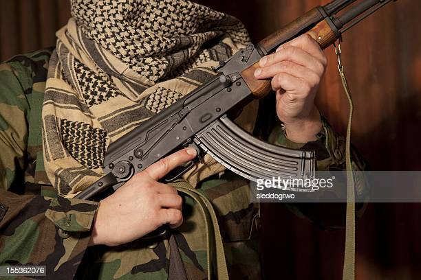 shemagh - kalashnikov stock pictures, royalty-free photos & images