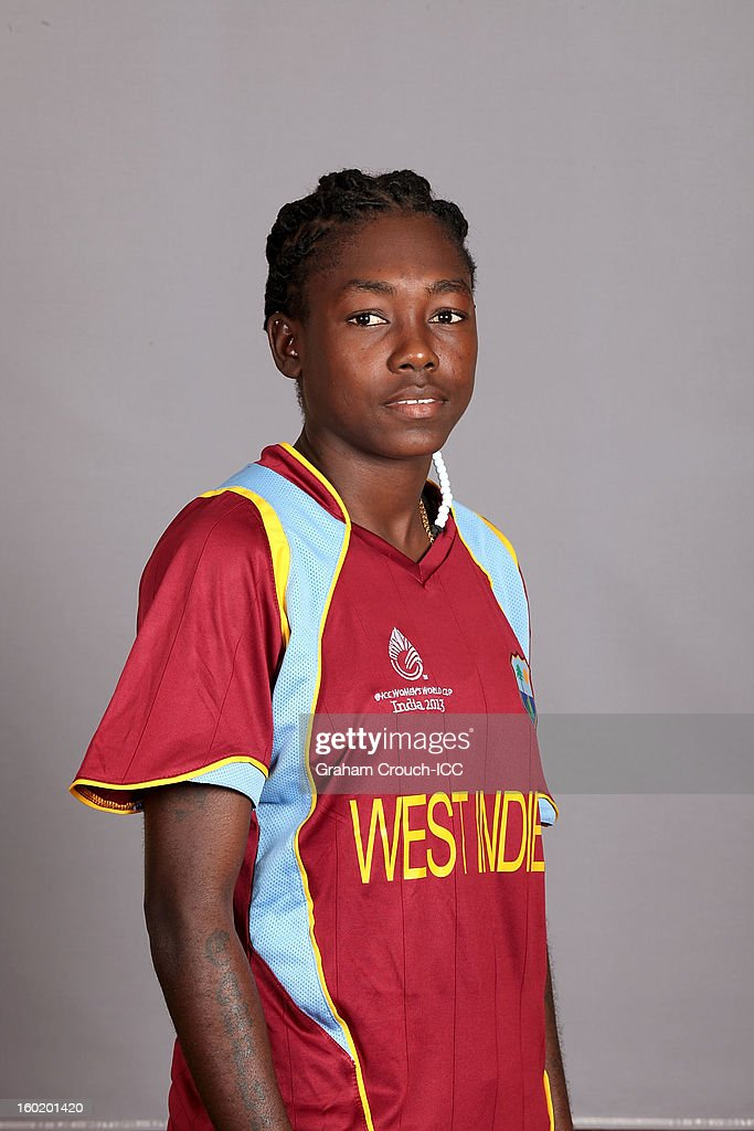 Shemaine Campbelle of West Indies poses at a portrait session ahead of the ICC Womens World Cup 2013 at the Taj Mahal Palace Hotel on January 27, 2013 in Mumbai, India.