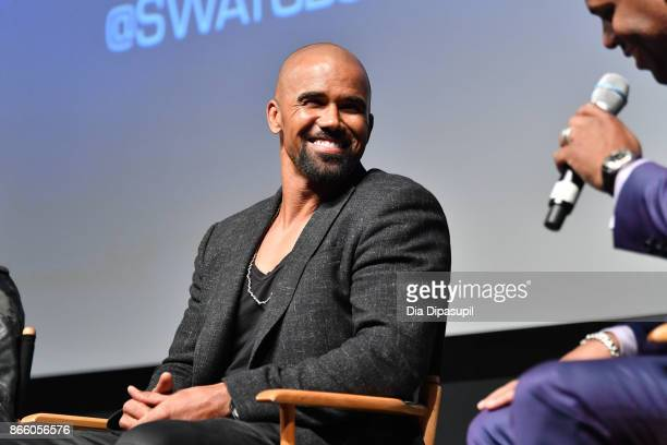 Shemar Moore and AJ Calloway attend the New York Television Festival primetime world premiere of SWAT at SVA Theatre on October 24 2017 in New York...