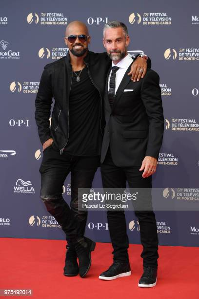 Shemar Moore and Jay Harrington attend the opening ceremony of the 58th Monte Carlo TV Festival on June 15 2018 in MonteCarlo Monaco