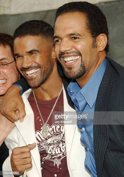 Shemar Moore and Kristoff St John during CBS Summer 2005 Press Tour Party at Hammer Museum in Westwood California United States