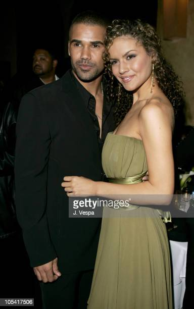 """Shemar Moore and Lisa Marcos during Tyler Perry's """"Diary of a Mad Black Woman"""" Los Angeles Premiere - After Party at The Sunset Room in Los Angeles,..."""
