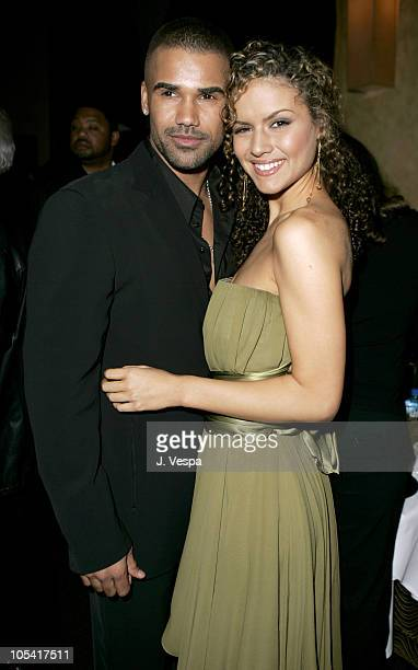"Shemar Moore and Lisa Marcos during Tyler Perry's ""Diary of a Mad Black Woman"" Los Angeles Premiere - After Party at The Sunset Room in Los Angeles,..."