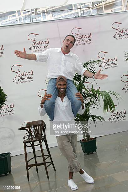 Shemar Moore and Mandy Patinkin during 2007 Monte Carlo Television Festival 'Criminal Minds' Shemar Moore and Mandy Patinkin Photocall at Grimaldi...