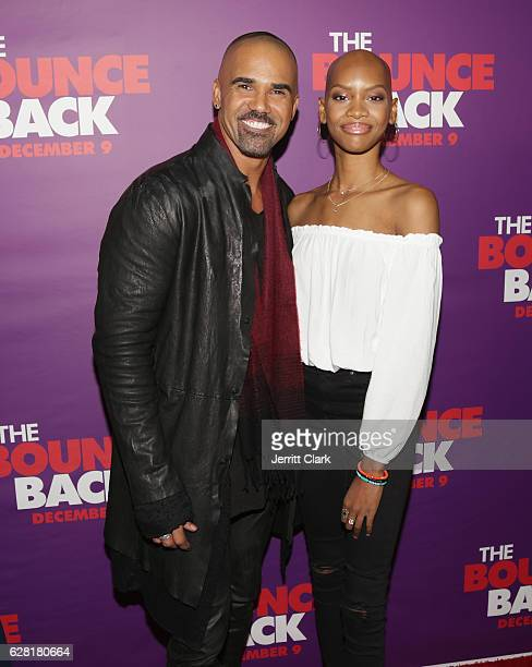 Shemar Moore and Nadja Alaya attend the Premiere Of Viva Pictures' 'The Bounce Back' at TCL Chinese Theatre on December 6 2016 in Hollywood California