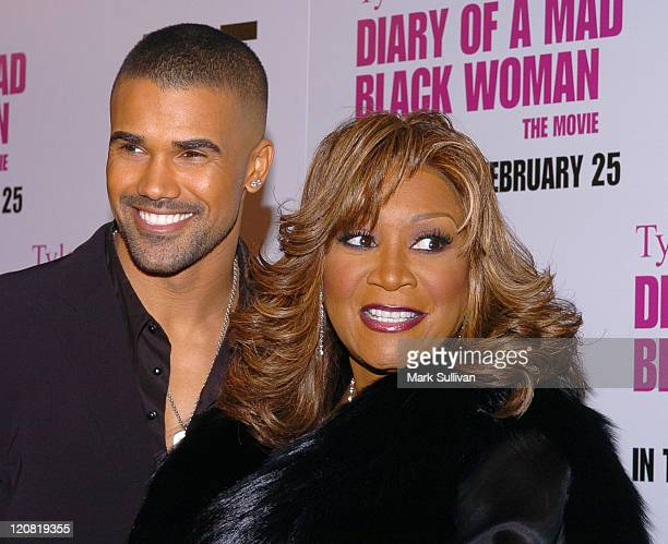 Shemar Moore and Patti LaBelle during Tyler Perry's 'Diary of a Mad Black Woman' Los Angeles Premiere Arrivals at Arclight Cinerama Dome in Hollywood...