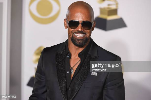 Shemar Moore attends 60th Annual GRAMMY Awards - Press Room at Madison Square Garden on January 28, 2018 in New York City.
