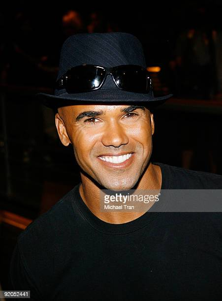 Shemar Moore attends the 100th episode cakecutting ceremony of the television show Criminal Minds held at Quixote Studios on October 19 2009 in Los...