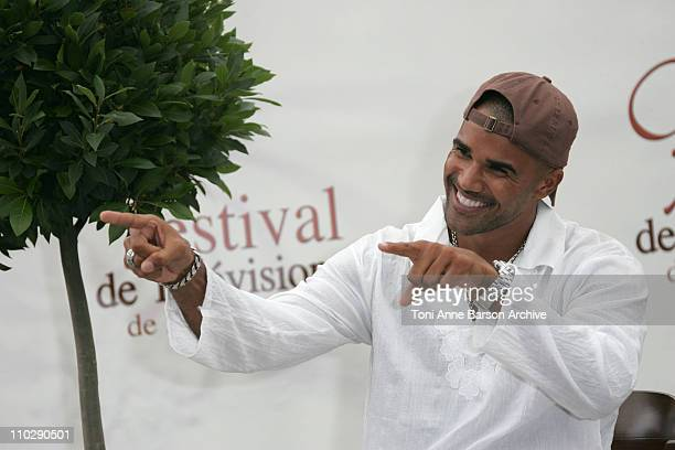 Shemar Moore during 2007 Monte Carlo Television Festival Criminal Minds Shemar Moore and Mandy Patinkin Photocall at Grimaldi Forum in Monte Carlo...
