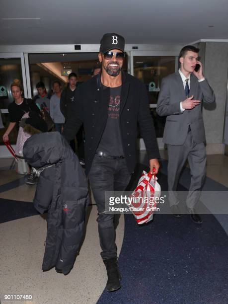Shemar Moore is seen at Los Angeles International Airport on January 03 2018 in Los Angeles California