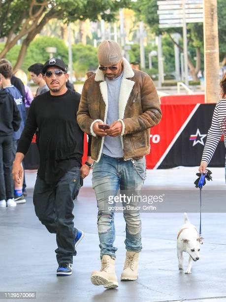 Shemar Moore is seen on April 26 2019 in Los Angeles California