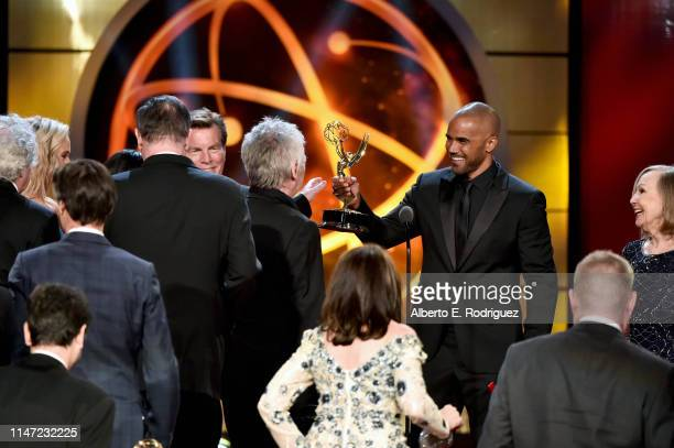 Shemar Moore presents the Outstanding Drama Series award to Mal Young and cast and crew for 'The Young and the Restless' onstage at the 46th annual...