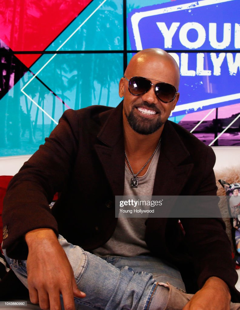 Shemar Moore Visits Young Hollywood Studio