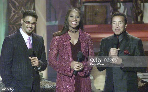 Shemar Moore Yolanda Adams and Smokey Robinson host the taping of 'The 3rd Annual Soul Train Christmas Starfest' in Los Angeles Ca 11/20/00