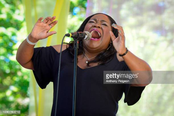 Shemekia Copeland performs on stage at Vancouver Wine Jazz festival in Vancouver Washington United States on 26th August 2017