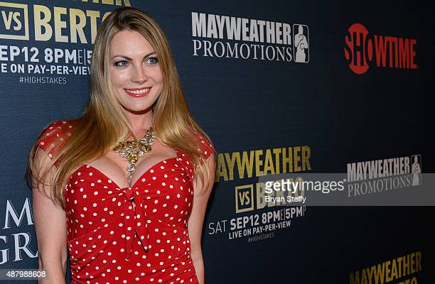 Shemori BoShae arrives at the VIP PreFight Party for 'High Stakes Mayweather v Berto' presented by Showtime at MGM Grand Garden Arena on September 12...