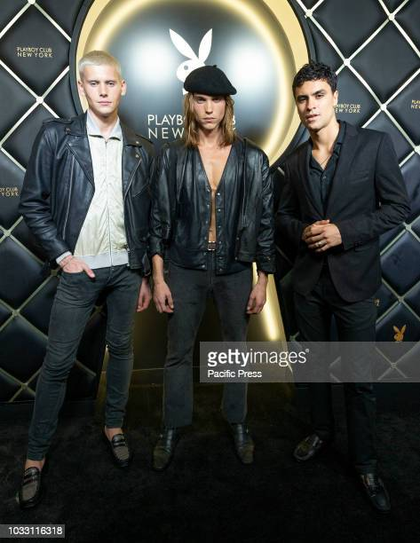 Shen Kai Colin Lamont Ameil Anderson attend Playboy Club New York Opening Party on 42nd street