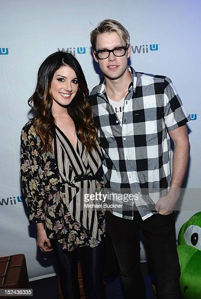 Shenae Grimes and Chord Overstreet arrive at the Nintendo Hosts Wii U Experience In Los Angeles on September 20 2012 in Los Angeles California