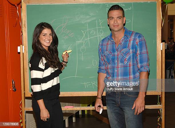 Shenae Grimes and Mark Salling attend Old Navy's Lucky Lockerama Kick Off at Burbank Town Center on July 29 2011 in Burbank California