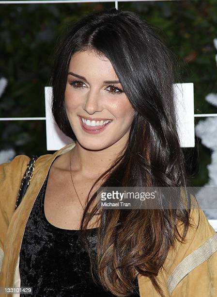 Shenae Grimes arrives at OP celebrates Fall/Holiday 2011 campaign Winter Wonderland event held at Siren Studios on November 16 2011 in Hollywood...