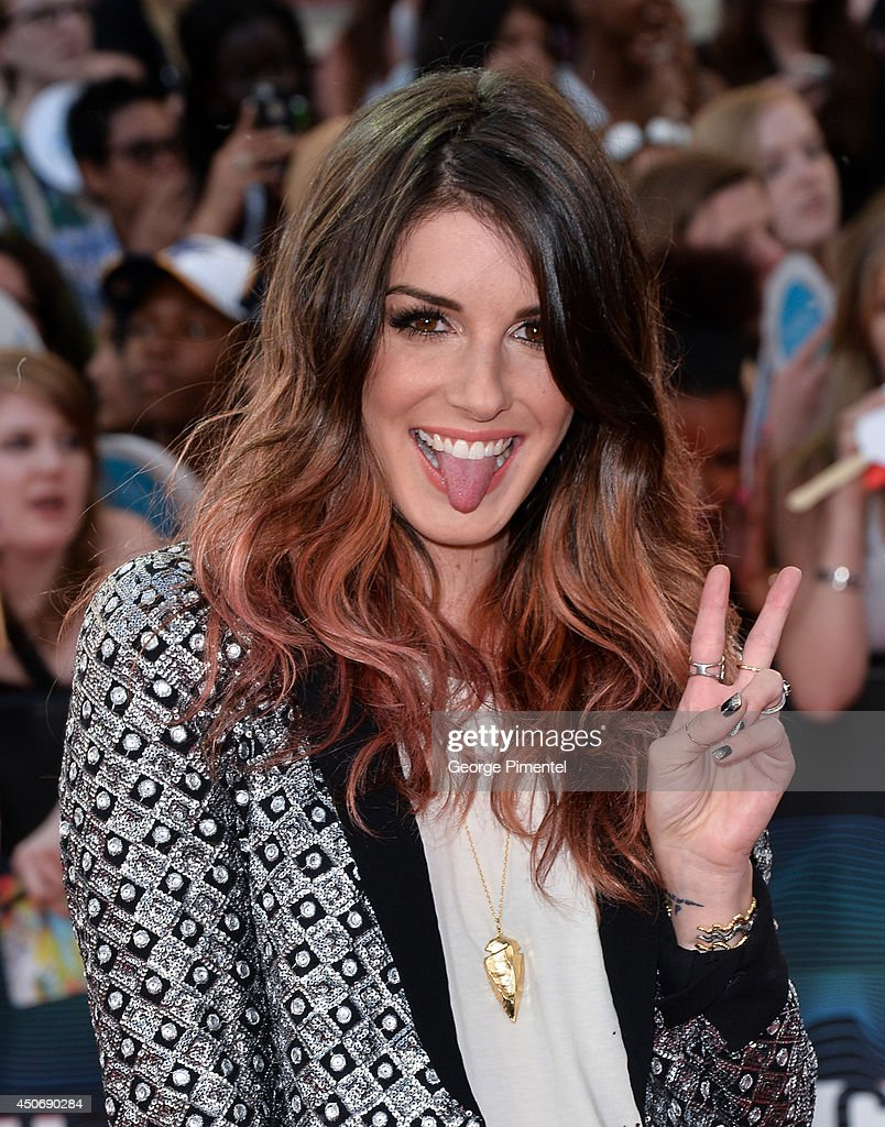 Shenae Grimes arrives at the 2014 MuchMusic Video Awards at MuchMusic HQ on June 15, 2014 in Toronto, Canada.
